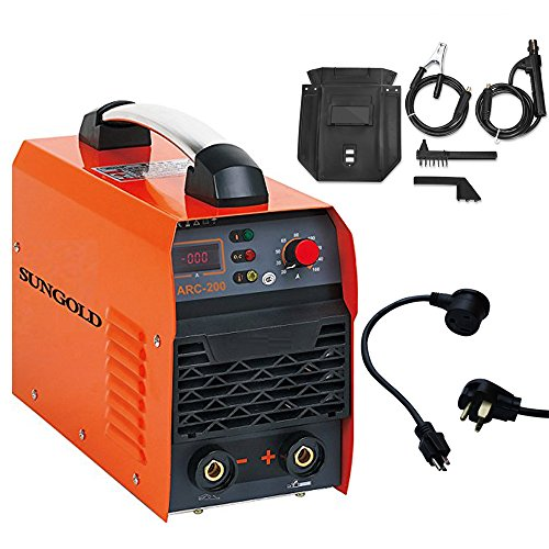 SUNGOLDPOWER 200A ARC MMA IGBT Digital Display LCD Hot Start Welding Machine DC Inverter Welder 200 AMP Rod Anti-Stick Dual 110V And 220V, Complete Package, Ready to Use! by SUNGOLDPOWER
