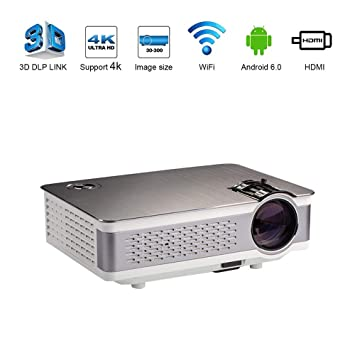 Zichen Proyector WiFi Proyector LED Inteligente Proyector de Video ...