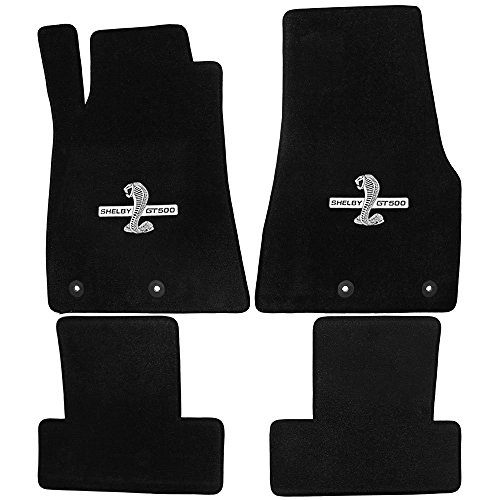 2013 to 2014 Ford Mustang Black Heavy Plush Floor Mats Front and Rear Shelby GT500 Logo supplier