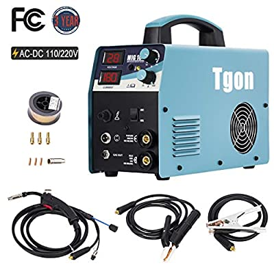 Mig welder, 180A MIG & ARC Dual Voltage Wire/Gas Dual-Use AC- DC Inverter Portable Multi Process Easy Weld Welding Machine