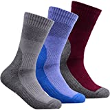 YUEDGE Performance Athletic Crew Socks (3 Pairs)
