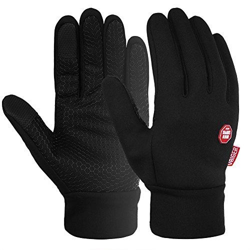 Vbiger Men Winter Warm Gloves Windproof Anti-slip Touch Screen Gloves Cold Weather Gloves Liner