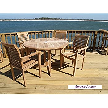 Amazon.com: Windsor - Mesa redonda de lámina con 4 sillas ...