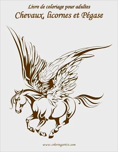 Amazon Com Livre De Coloriage Pour Adultes Chevaux