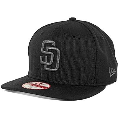 New Era SD San Diego Padres Custom Snapback Hat (Black/Black Pearl) 9Fifty Cap