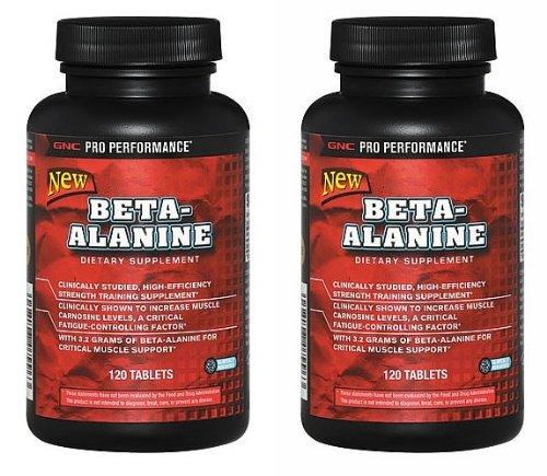 GNC Pro Performance Beta-Alanine, comprimés 2 paquets de chaque de 120 comprimés