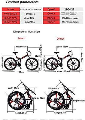 Bicicleta de montaña 24/26 pulgadas Bicicleta de 6 radios con ...