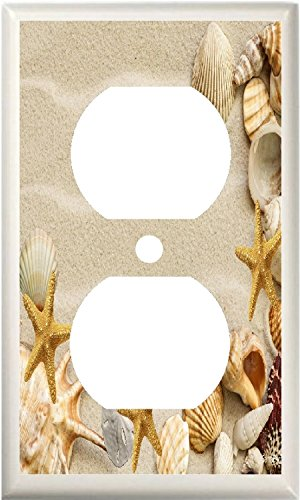 Price comparison product image BB SEASHELLS STARFISH BEACH LIGHT SWITCH PLATE COVER OR OUTLET V817 (1x Outlet)