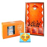 House Party 'Drinko Plinko' Drinking Game by Thoughtfully | Contains Wooden Plinko Board and Ceramic Beer Steins with Coasters for the Perfect Party Starter