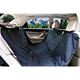 FitPetX Deluxe Waterproof Pet Seat Cover for Cars and SUV -Nonslip, Quilted, Extra Side Flaps, Machine Washable Pet Hammock Car Seat Cover
