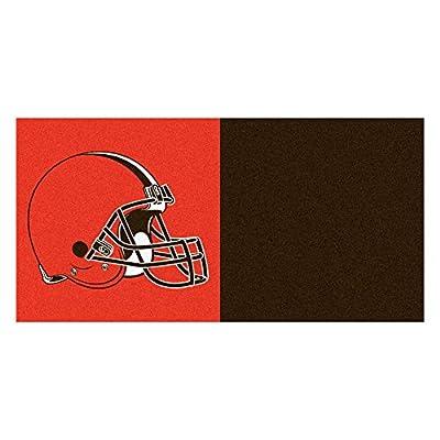FANMATS NFL Cleveland Browns Nylon Face Team Carpet Tiles