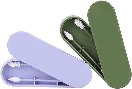 Coton-Tige Lavable /é,Cologique Cotons Tiges Silicone Nettoyage Oreilles Cosm/éTique Coton S/éCurit/é pour B/éB/é Double-T/êTe Recyclant Outil De Beaut/é Coton Tige Reutilisable