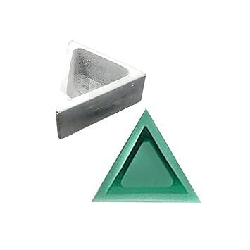 Lembeauty - Molde de Silicona con Forma de triángulo, para Plantas, macetas, moldes de Silicona, para hormigón, Musgo y jarrón de Cemento, A: Amazon.es: ...
