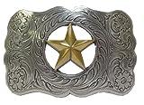 Texas Star Ranger Western Silvertone Belt Buckle and a Free Dream Catcher