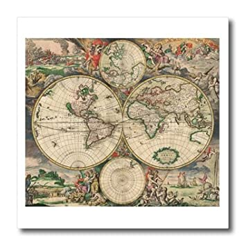World map 1689 10x10 iron on heat transfer for white material world map 1689 10x10 iron on heat transfer for white material gumiabroncs Choice Image