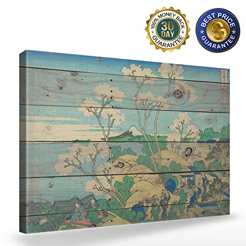 Canvas Wall Art - Katsushika Hokusai - Goten Hill at Shinagawa on The Tokaido - Modern Wall Decor Gallery Canvas Wraps Giclee Print Stretched and Framed Ready to Hang 12