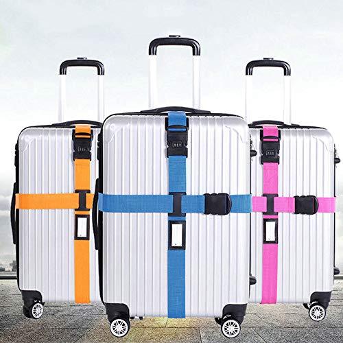 FINCOS 荷物ストラップ クロスベルト パッキング 調整可能 旅行用スーツケース ナイロン 3桁 パスワードロック バックルストラップ 荷物ベルト ホット FCS-DFC3DFE1CE7628EE8EFF112F9911C4C8  as show B07QVZTSKZ