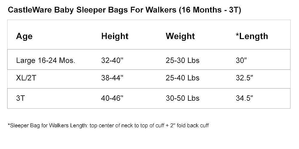 f2c55f7e8 Amazon.com  CastleWare Baby- Sleeper Bag For Walkers- Organic Cotton ...
