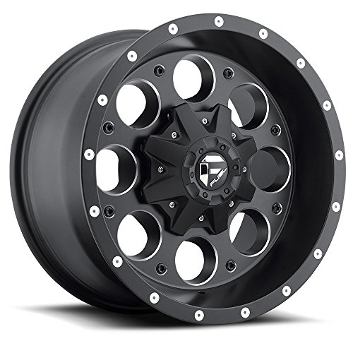 Fuel Revolver 16x8 Black Wheel / Rim 8x6.5 with a 1mm Offset and a 125.20 Hub Bore. Partnumber D52516808245 (Fuel Revolver)