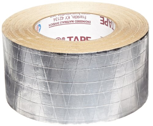 Nashua FSK Foil-Scrim-Kraft Insulation Jacketing Tape, 50 yds Length x 72mm Width, Aluminum ()