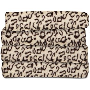 Sunbeam Heated Throw Blanket | Fleece, 3 Heat Settings, Cheetah - TSF8TP-R906-33A00