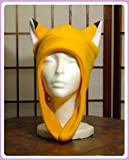 Orange Fox Ears Aviator Anime Hat