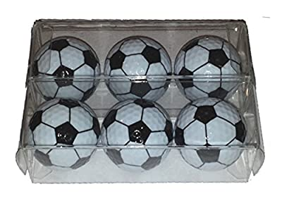 Soccer Novelty Golf Balls - 6 Balls Packed in 2 Sleeves That Each Contain 3 Balls.