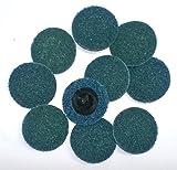 Generic YanHong-US3-151007-63 8yh1842yh Sanding Discs Preparation Pad l Lock Prep 10 PC 2'' 10 PC 2'' Type R Roll Lock aration P FINE Surface E Surface Prep Sanding Discs