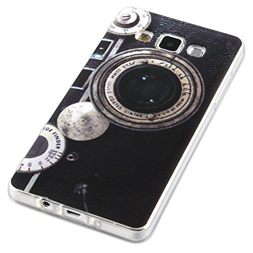 Carcasa Samsung Galaxy A3 diseño funda de silicona con diseño de cámara retro
