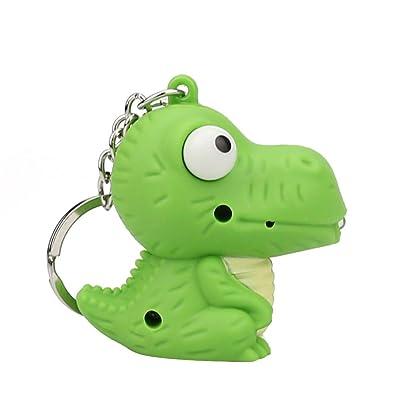 Bazhahei Llavero Dinosaur Small Model Glow Sound Small Toy Keychain Lindo Llavero Modelo de Dinosaurio conLuz Led Y Sonido Llavero Regalo de Juguete Para NiñOs: Hogar