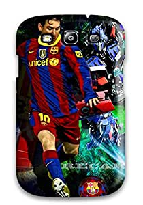 New Style Juree Regazzi Lionel Messi Desktop Background Premium Tpu Cover Case For Galaxy S3