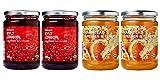 Ikea Organic Jam Bundle - Includes Total 4 Preserves - 2 SYLT LINGON Lingonberry Organic Preserves and and 2 MARMELAD APELSIN & FLÄDER Orange & elderflower organic Marmalade.