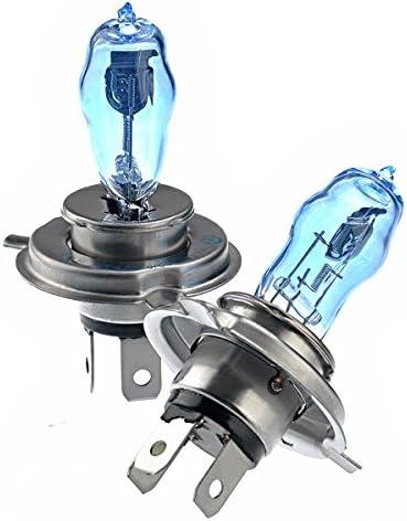 NUOLUX 2pcs H4 DC 12V 100W voiture Auto phare projecteur lampe ampoule halog/ène bleu