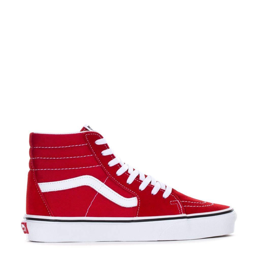 Vans Mens U SK8 HI Racing RED True White Size 7.5 by Vans