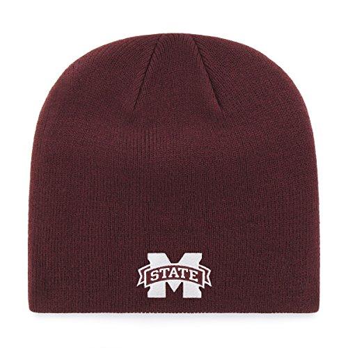 - OTS NCAA Mississippi State Bulldogs Beanie Knit Cap, Dark Maroon, One Size