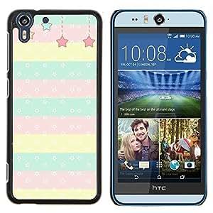 Stuss Case / Funda Carcasa protectora - Motif à pois ligne pour enfants - HTC Desire Eye M910x