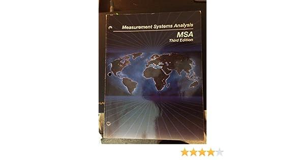 measurement systems analysis msa aiag 9781605342115 amazon com rh amazon com Latest Edition of Newsletter Latest Edition of Newsletter