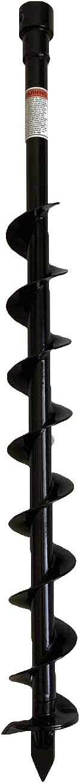 GardenTrax 2-Inch Diameter Earth Auger, Black (3-Inch Diameter)