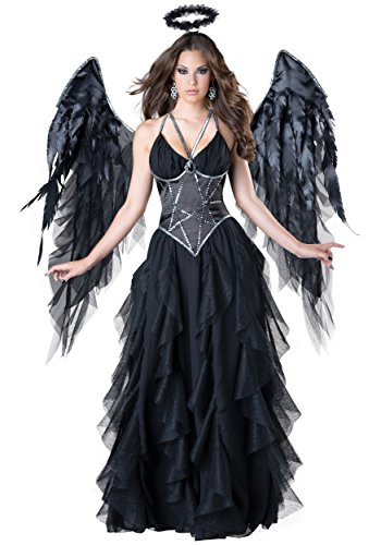 InCharacter Costumes Women's Dark Angel Costume, Black, Large -
