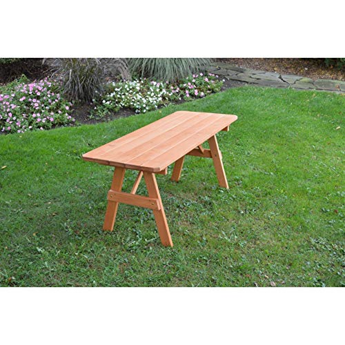 Kunkle Holdings LLC Pressure Treated Pine Picnic Table ONLY Cedar Stain - 4,5,6 or 8 Foot 4 feet 4 - Pressure Picnic Treated Table