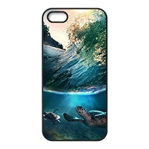 Cool Painting Sea Turtle Personalized Cover Case for Iphone 5,5S,customized phone case case564837