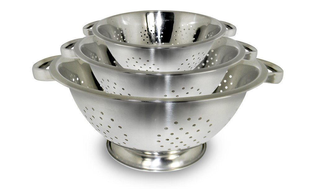 ExcelSteel Stainless Steel Colanders, Set of 3 Cook Pro Inc. 731