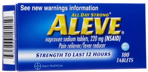 Aleve Pain Reliever Fever Reducer Tablets - 100 Ea (Aleve Cold Medicine)