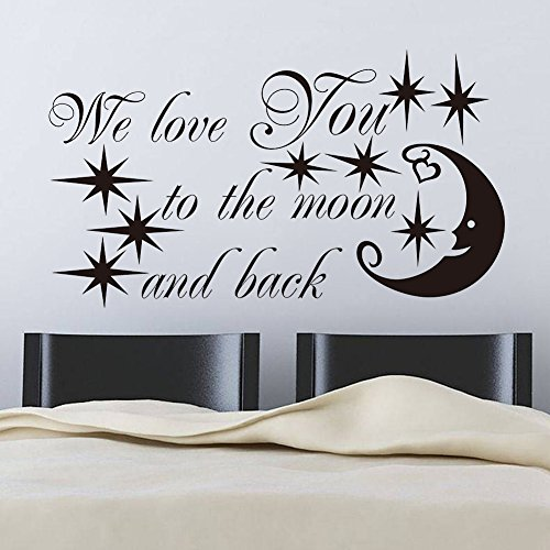EMIRACLEZE Christmas Gift Letter Stars Starry Night Moon Removable Mural Wall Stickers Decal for Children Bedroom Home (Cool Words Beginning With E)