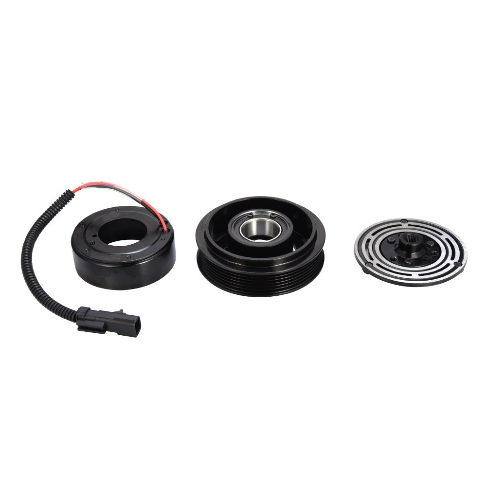 Catinbow AC Compressor Clutch Assembly Repair Kit with Pulley Bearing, Electromagnetic Coil & Plate for 1994-2002 Dodge Dakota