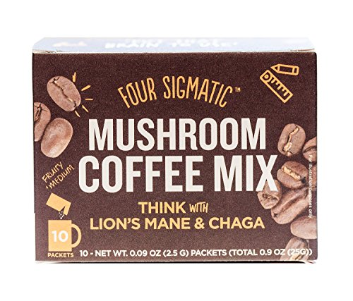 Four-Sigmatic-Mushroom-Coffee-with-Lions-Mane-Chaga-For-Concentration-Focus-Vegan-Paleo-Gluten-Free-009-Ounce-10-Count