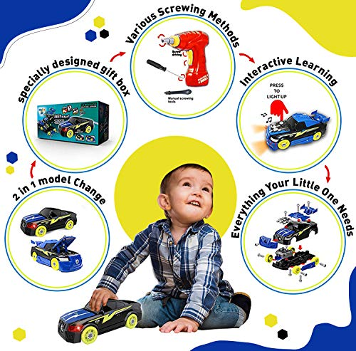 Take Apart Car Toy , Build A Car Kit - 5 Year Old Boy Toys , Stem Toys with Tool Set for Boys & Elec - http://coolthings.us