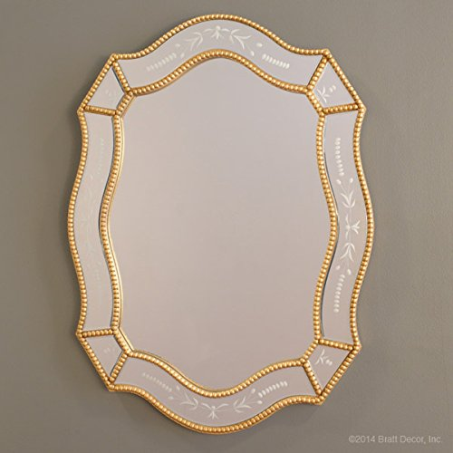 Bratt Decor ornate beaded mirror