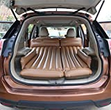 R&R Air Bed Inflatable pad SUV Car Inflatable Bed for Most Cars , brown