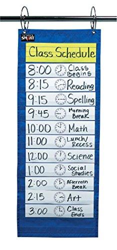 School Smart 085089 Classroom Schedule Pocket Chart, 12-1/2'' x 33'' by School Smart (Image #1)